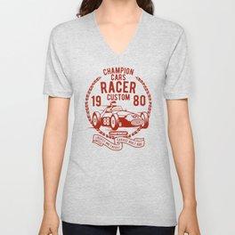 champion cars racer Unisex V-Neck