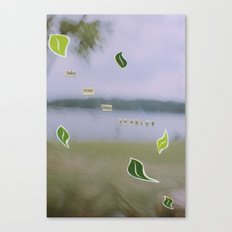 Rushing Canvas Print