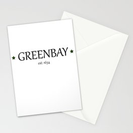 Greenbay Wisconsin Local Patriotism Stationery Cards