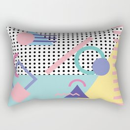 Memphis Pattern 5 - 80s - 90s - Retro Rectangular Pillow