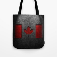 Canadian Flag Stone Texture Tote Bag