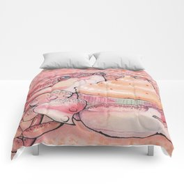 Crab and a Cupcake Comforters