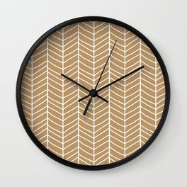 Chevron Light Brown Wall Clock