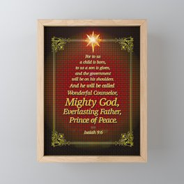 For to us a child is born . . . Framed Mini Art Print