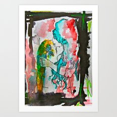 Emo Art Print