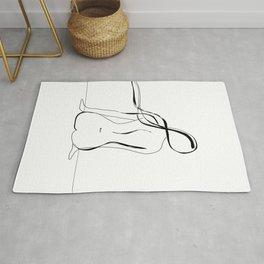 Woman Line Drawing Rug