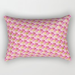 Pink Gold Mermaid Scales Rectangular Pillow
