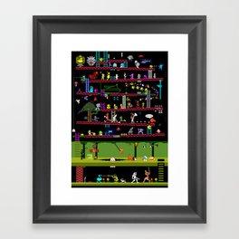 Retro Game Classics Framed Art Print