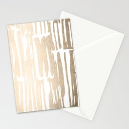 White Gold Sands Bamboo Stripes Stationery Cards
