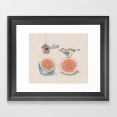Citrus Bird Framed Art Print