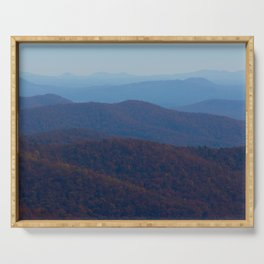 The Blue Ridge Parkway Mountains NC #2, Fine Art Landscape Photography Serving Tray