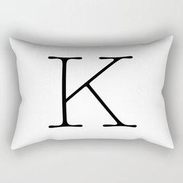 Letter K Typewriting Rectangular Pillow