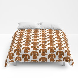 Longhaired Red Dachshund Comforters