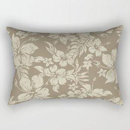 Hibiscus Pareau Hawaiian Floral Aloha Shirt Print Rectangular Pillow
