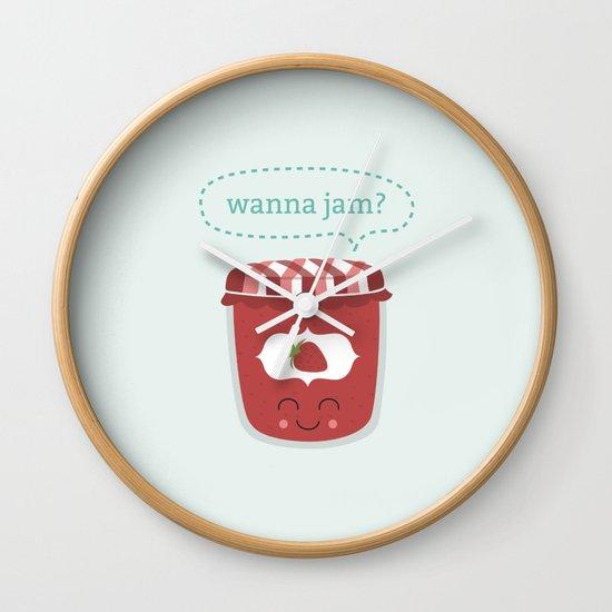 Wanna Jam? Wall Clock