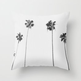 Black & White Palms Throw Pillow