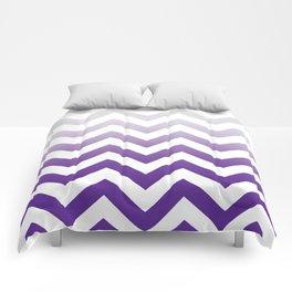 PURPLE FADE TO GREY CHEVRON Comforters
