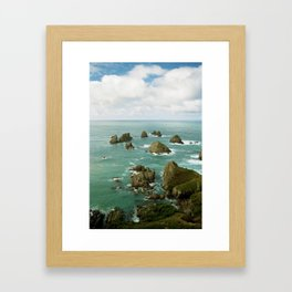 Where two oceans meet Framed Art Print