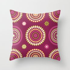 Ethnic Circles Throw Pillow