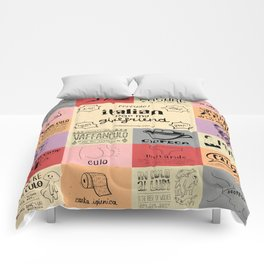 Italian For My Girlfriend - rrrrrude! edition Comforters