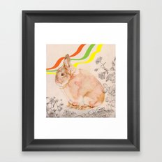 Dedicated to all those bunnies out there Framed Art Print