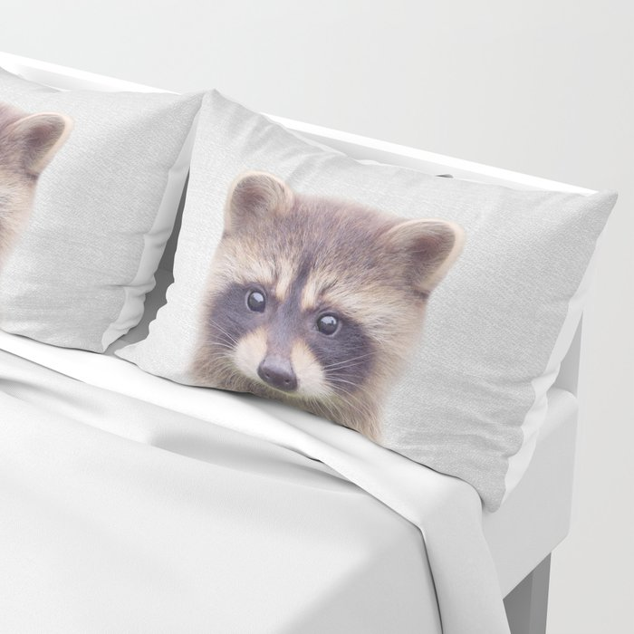 Raccoon - Colorful Pillow Sham