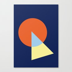 Triangle and circle Canvas Print