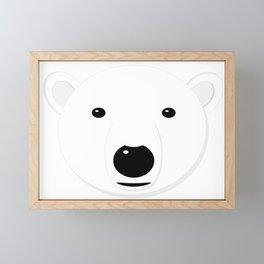 Cartoon Polar Bear Adult Framed Mini Art Print
