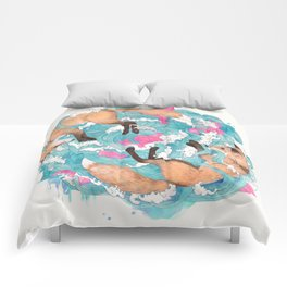 falling foxes Comforters
