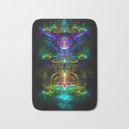 Neon - Fractal - Visionary Art - Manafold Art Bath Mat