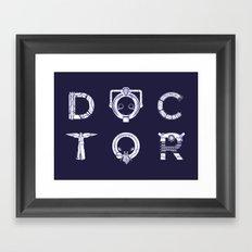 DOCTOR (Letters) Framed Art Print