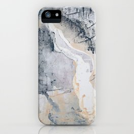As Restless as the Sea: a minimal abstract painting by Alyssa Hamilton Art iPhone Case