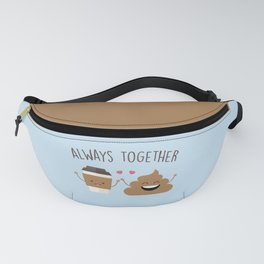 Always Together, Cute, Funny, Quote Fanny Pack
