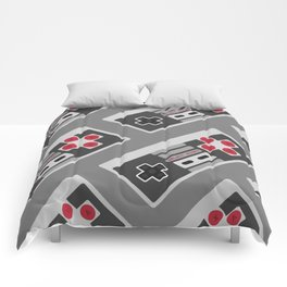 Retro Video Game Pattern Comforters