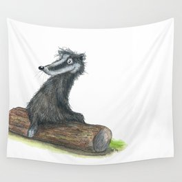 Badgers Date Wall Tapestry