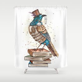 Steampunked Tui Shower Curtain