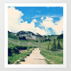 Up Mount Rainier Art Print