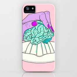 SQUEEZE YOUR BRAIN iPhone Case