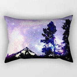 Mount Hood Under the Galaxy Rectangular Pillow