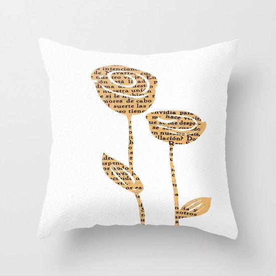 PAPERCUT FLOWER 5 Throw Pillow