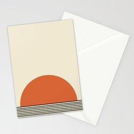 Sunrise / Sunset I - Orange & Black Stationery Cards
