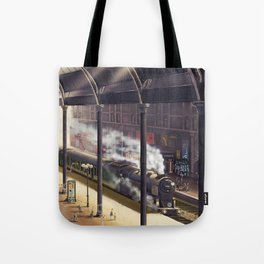 The Giraffe Train Station (Interior) Tote Bag