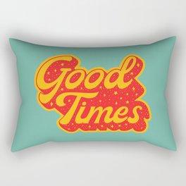 Good Times - Typography Rectangular Pillow
