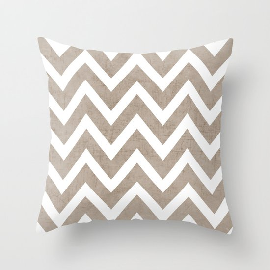 coco chevron Throw Pillow