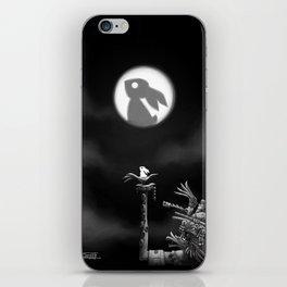 Rabbit on the moon iPhone Skin