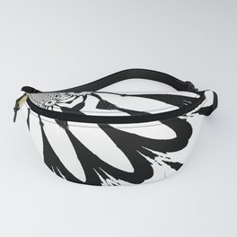 The Modern Flower White & Black Fanny Pack