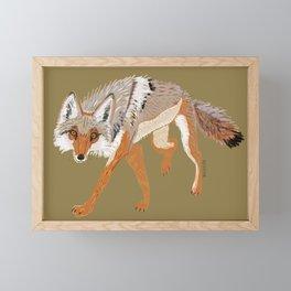 Totem Coyote Framed Mini Art Print