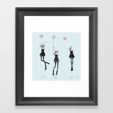 Girls Afloat Framed Art Print