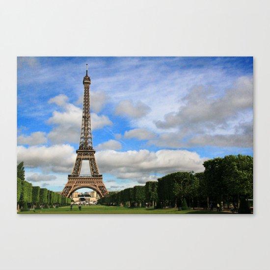 Eiffel Tower Day Canvas Print