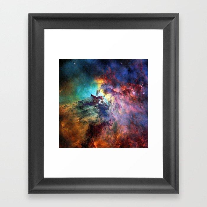 Lagoon Nebula Gerahmter Kunstdruck